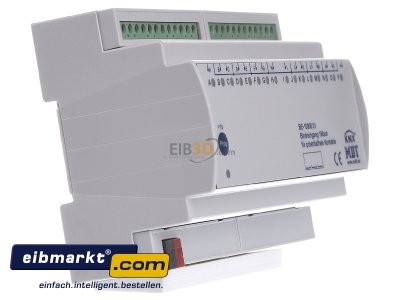 View on the left MDT BE-16000.01 EIB/KNX Binary Input 16-fold, 8SU MDRC, Contact Inputs -
