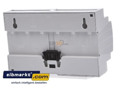 Back view MDT BE-16000.01 EIB/KNX Binary Input 16-fold, 8SU MDRC, Contact Inputs -