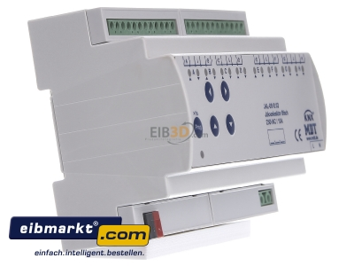 View on the left MDT JAL-0810.02 EIB/KNX Shutter Actuator 8-fold, 8SU MDRC, 10A, 230VAC -