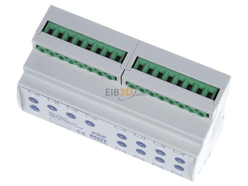 MDT EIB/KNX Schaltaktor 12-fach, 8TE, REG, 16A, 230VAC, C-Last, Standard