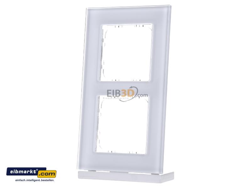 eibmarkt.com - EIB/KNX Glasrahmen für 55 mm Programme 2-fach, Weiß ...