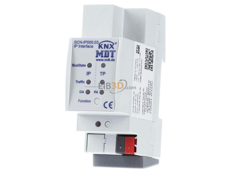 MDT IP Interface, mit KNX IP und Data Secure, Email, Zeitserverfunktion - SCN-IP000.03