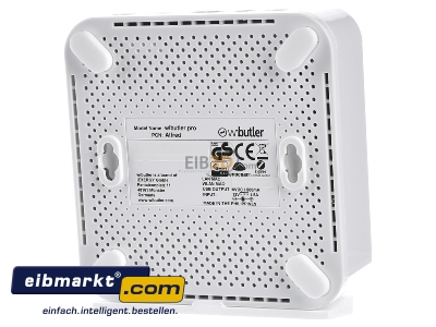 Back view iEXERGY wibutler pro Wibutler Pro Home Server for Bluetooth, Bluetooth Low Energy, Z-Wave, EnOcean und Zigbee