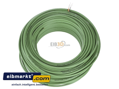 Top rear view Verschiedene-Diverse EIB-Y(St)Y 2x2x0,8 EIB KNX bus cable ring 100m green