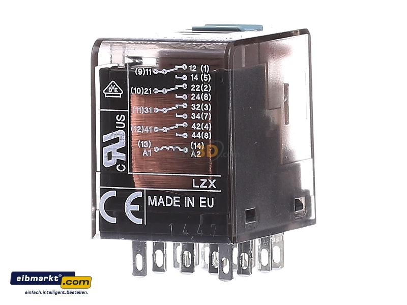 Normally Open Switch >> eibmarkt.com - Switching relay AC 230V DC 0V LZX:PT570730