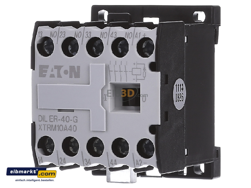 eibmarkt.com - Auxiliary relay 24VDC 0NC/ 4 NO DILER-40-G(24VDC) on time delay relay wiring, din rail relay wiring, timer relay wiring, thermostat relay wiring,
