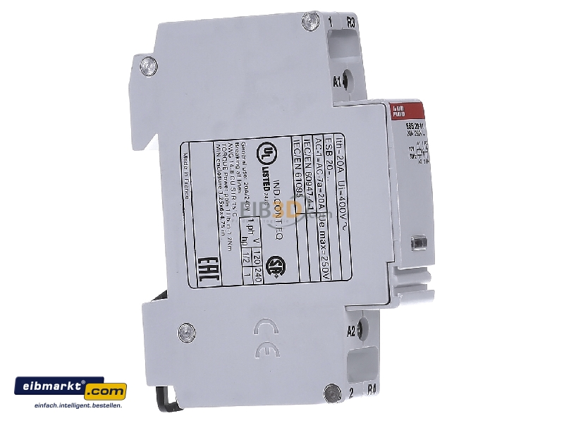 Installation contactor 12VAC 1 NO/ 1 NC ESB 20-11 12V50Hz