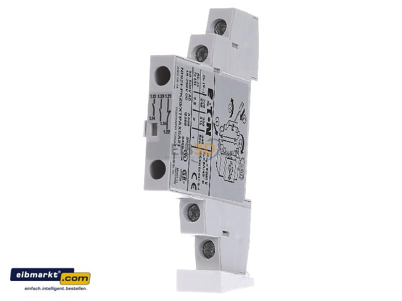 Auxiliary contact block 2 NO/1 NC NHI21-PKZ0