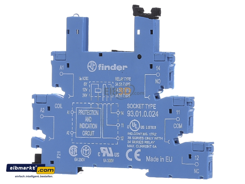 eibmarkt.com - Relay socket 5-pin 93.01.0.024