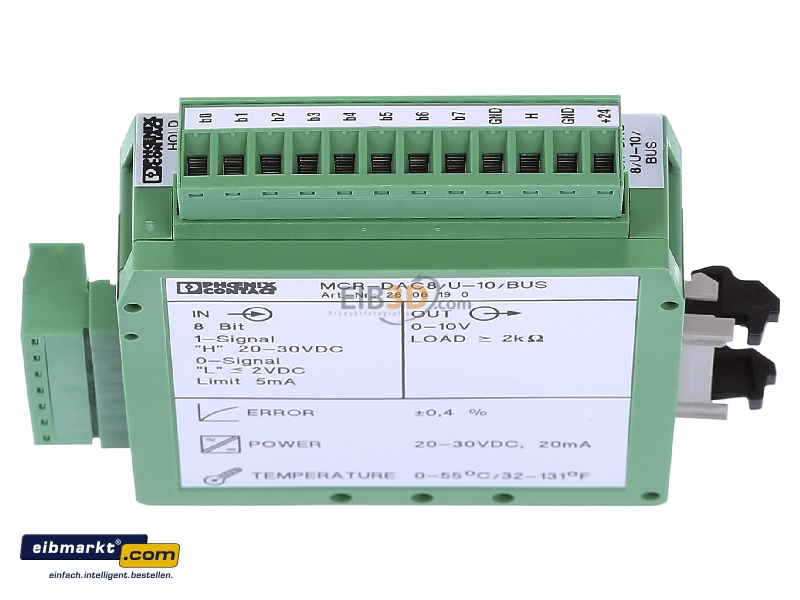 Phoenix Contact Digital Analog Converter MCR-DAC8//U-10//BUS 2808190 30 VDC 20mA