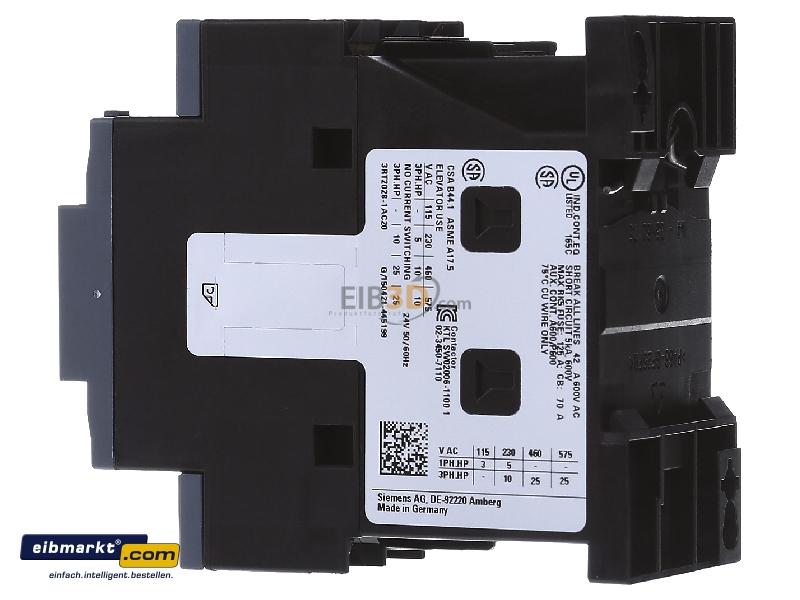 eibmarkt.com - Magnet contactor 38A 24VAC 0VDC 3RT2028-1AC20