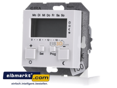 Front view Gira 237003 Room temperature controller 0...50°C