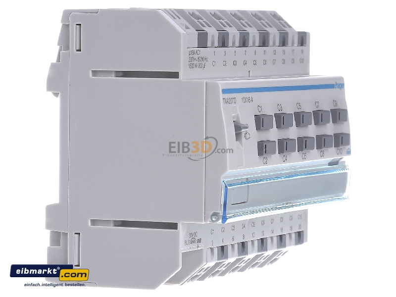 eibmarkt.com - EIB, KNX switching actuator 10-fold, TXA207D