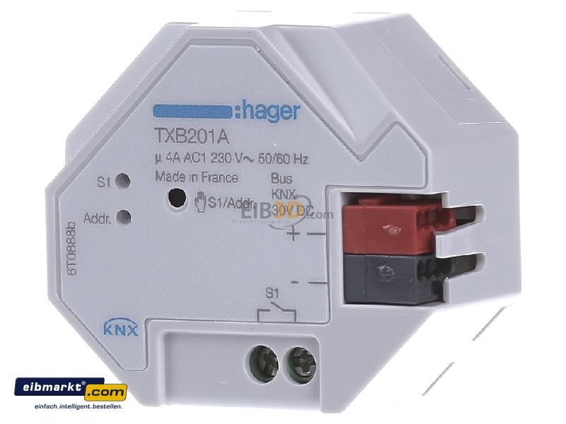 eibmarkt.com - EIB, KNX switching actuator 1-fold with manual ...